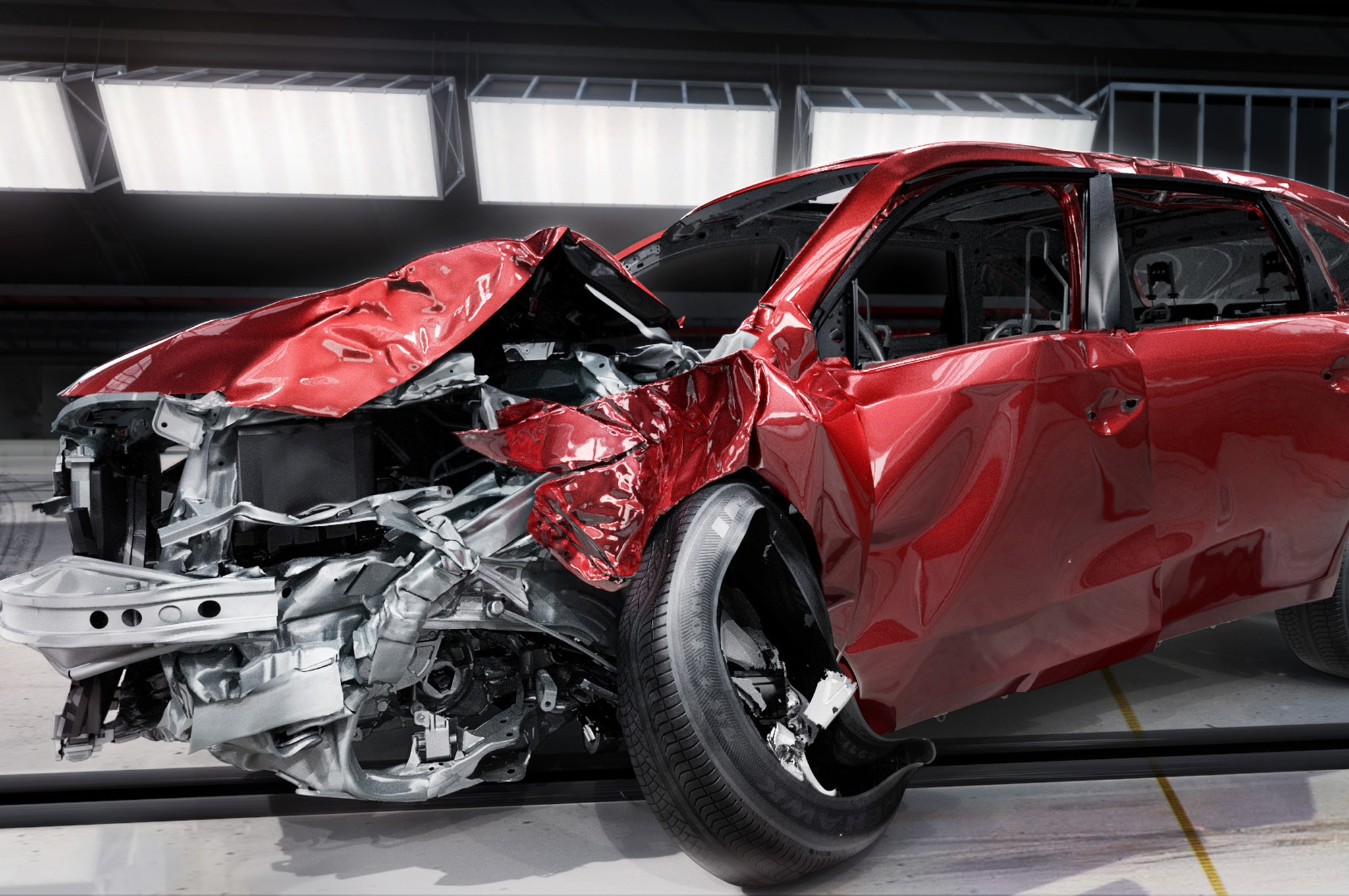 Honda Crash Test Visualization Front Three Quarters1